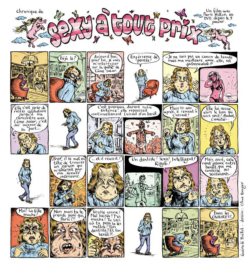 """Publiée dans """"Comédie Magazine"""" #2. Olive Booger est au dessin."""